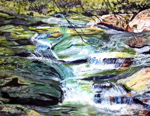 White Oak Creek12 x16 Watercolor