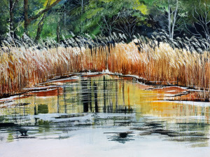 Chincoteague Marsh LandWatercolor